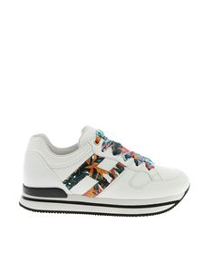 Hogan - H222 sneakers in white with floral details