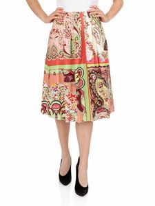 Etro - Multicolor foulard printed skirt
