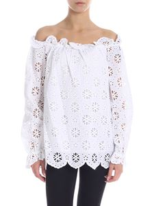 Michael Kors - Broderie anglaise blouse in white