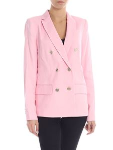Michael Kors - Double-breasted lined jacket in pink
