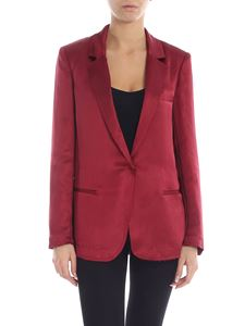 Jucca - Raw cut jacket in burgundy