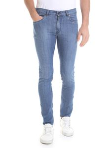 Fay - Skinny jeans in light blue cotton
