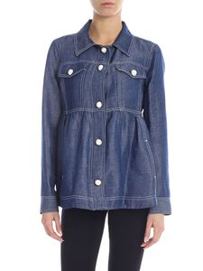 KI6? Who are you? - Blue denim shirt with pearly buttons