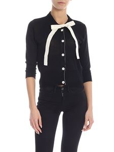Jucca - Cardigan in black with bow