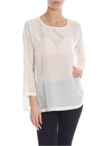 Jucca - Semi-transparent blouse in white