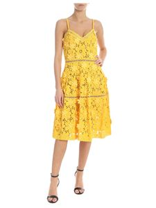 Michael Kors - Yellow dress with applied flowers