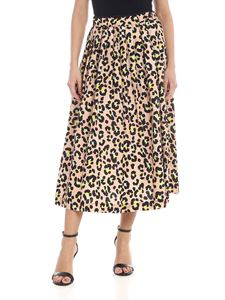 Jucca - Animalier skirt in light pink