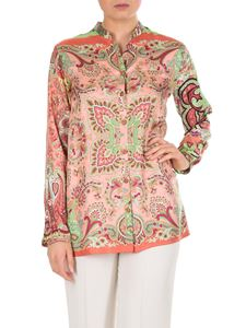 Etro - Pink shirt with Paisley print