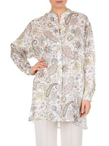 Etro - White Paisley shirt with mandarin collar