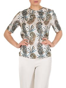 Etro - Paisley top in white silk blend