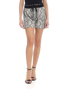 Jucca - Reptile effect shorts in ivory color