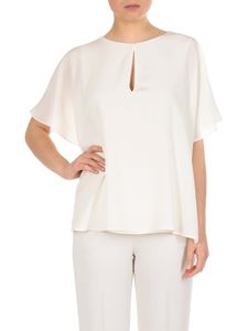 Etro - White blouse with ruffles