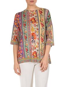 Etro - Oversize Paisley and floral t-shirt