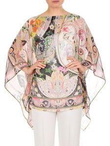 Etro - Pink and multicolor Paisley poncho