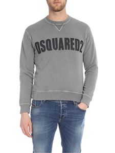 Dsquared2 - Gray sweatshirt with black logo print