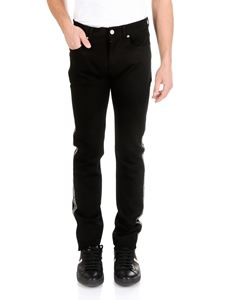 Versace - Black jeans with Versace bands
