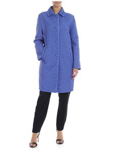 d6538fac29e Ermanno Scervino - Matellassè down jacket in indigo color