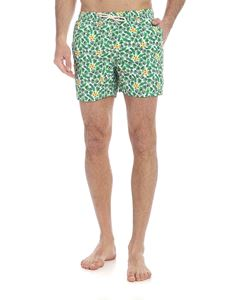 MC2 Saint Barth - Summer Flower boxer swimsuit in green