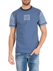 Stone Island - T-shirt in light blue jersey Graphic Rose of the Winds