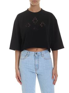 Marcelo Burlon County Of Milan - T-shirt crop Cross nera