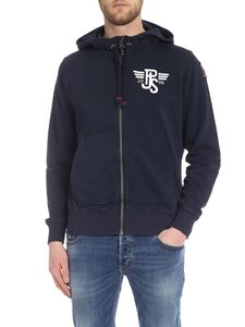 Parajumpers - Charlie hood sweatshirt in blue