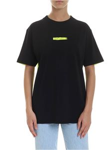 Marcelo Burlon County Of Milan - Peligro T-shirt in black and fluo yellow