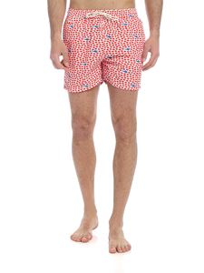 MC2 Saint Barth - Red Fish boxer swimsuit in red