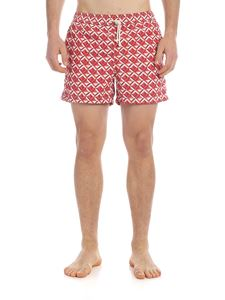 RIPA RIPA - Scacchi boxer swimsuit in red