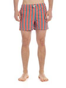 RIPA RIPA - Monterosso boxer swimsuit in orange and green