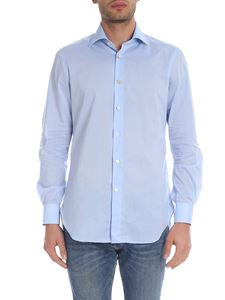 Kiton - Light blue shirt with French collar