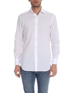 Kiton - White shirt with French collar