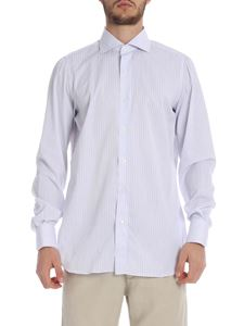 Finamore 1925 - Napoli striped shirt in white