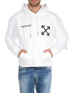 Off-White - Flamed Bart hoodie in white with double sleeves