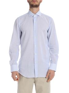 Finamore 1925 - Milano shirt in white and light blue