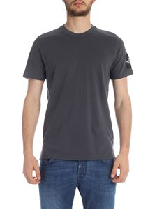 The North Face - T-shirt in grey with logo label