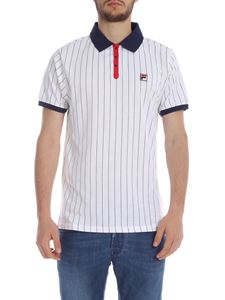 Fila - BB1 Classic Vintage polo in white and blue