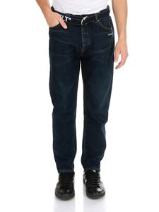 Off-White - Low Crotch jeans in dark blue
