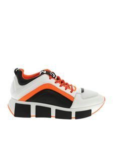 Vic Matiè - Sneakers in white and orange with logo