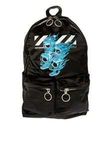 Off-White - Skulls backpack in black nylon