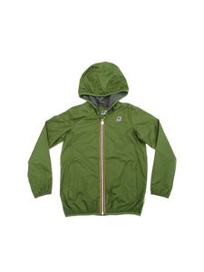 K-way - Jacques jacket in green with hood