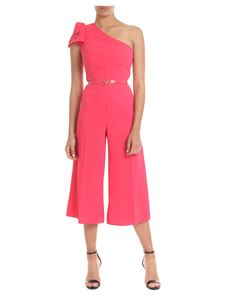 f141702573da Elisabetta Franchi - One-shoulder crepe jumpsuit in bougainvillea color