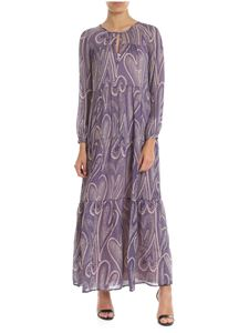Ottod'Ame - Dress in purple and powder pink viscose