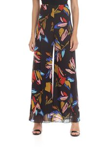 Ottod'Ame - Trousers in black with multicolored pattern