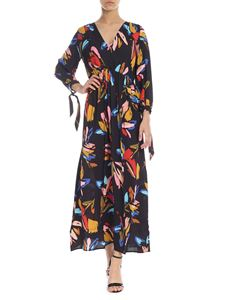 Ottod'Ame - Dress in black with multicolored pattern