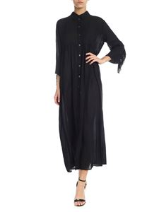 Ottod'Ame - Fringed dress in black cotton