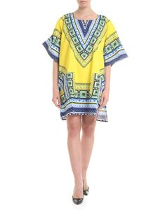Gaelle Paris - Dress in yellow with ethnic print