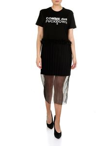 Comme des Fuckdown - Short dress in black jersey and tulle