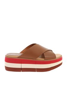 Paloma Barceló - Manami slippers in brown leather