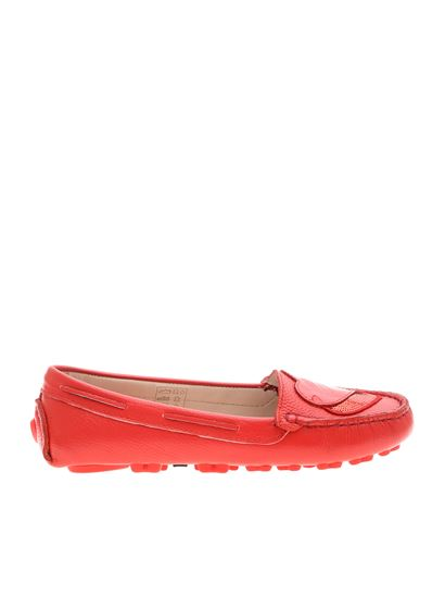 Love Moschino - Loafers in red with hearts