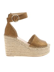 Guess - Kaleey wedges in bronze leather
